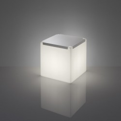 Table basse lumineuse - KUBO - INOX ou PLEXI - SLIDE