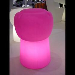 Tabouret lumineux LED - CIN CIN - ROSE