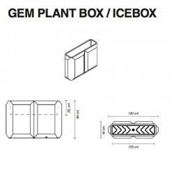 Pot de fleur ou Seau à glace - GEM BOX - myyour