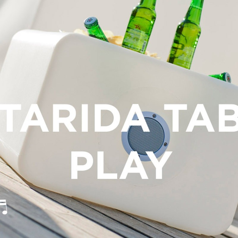 Table basse lumineuse & Enceinte - TARIDA TAB PLAY - Newgarden