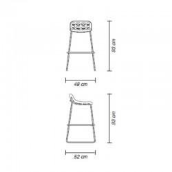 Tabouret design d'intérieur et d'extérieur - CHIPS - myyour