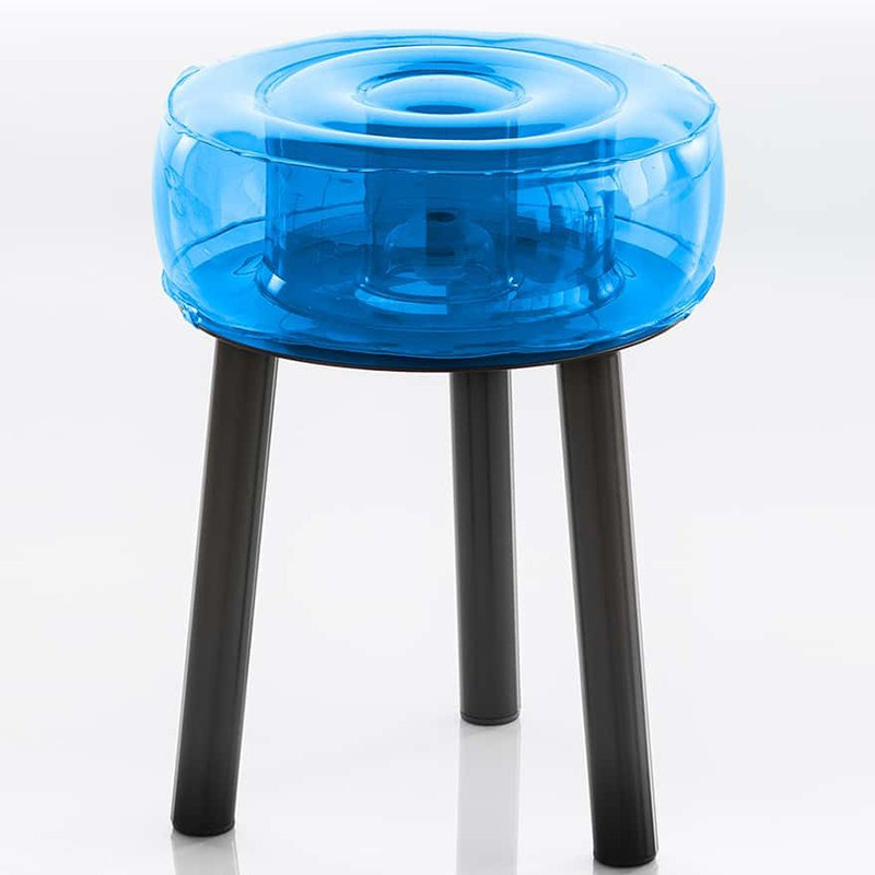 Tabouret gonflable pieds noir - Floofy - Mojow