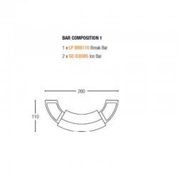 Composition bar lumineux - SLIDE