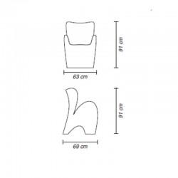 Chaise d'extérieur ou d'intérieur - LILY - myyour