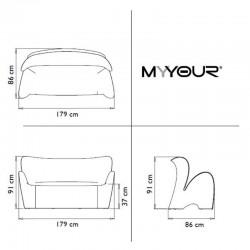 Canapé d'extérieur ou d'intérieur - LILY - myyour