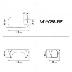 Table basse d'extérieur ou d'intérieur - LILY - myyour