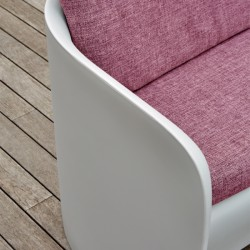 Canapé coussin rouge d'extérieur ou d'intérieur - NOVA - myyour