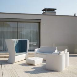 Canapé blanc d'extérieur ou d'intérieur - NOVA - myyour