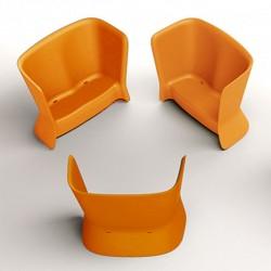 Canapé orange d'extérieur ou d'intérieur - NOVA - myyour