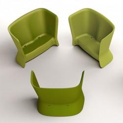 Canapé vert d'extérieur ou d'intérieur - NOVA - myyour