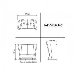 Canapé d'extérieur ou d'intérieur - NOVA - myyour