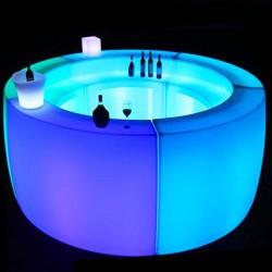 Bar lumineux multicolore - ROUND - lemobilierlumineux.com