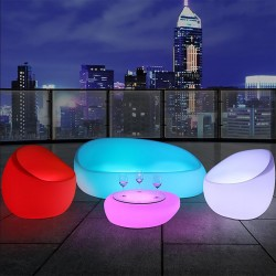 Salon lumineux LED - MOON - lemobilierlumineux.com