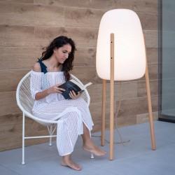 Lampe moderne sur pieds en bois - ROCKET 145 - lemobilierlumineux.com