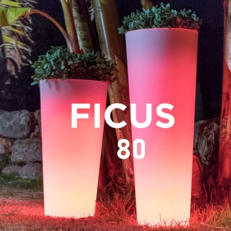 Pot de fleur lumineux - FICUS 80 - Newgarden