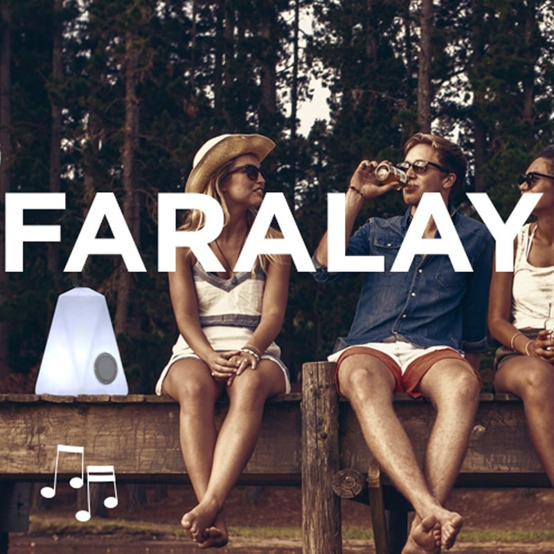 Lampe musicale Bluetooth - FARALAY-PLAY - Newgarden
