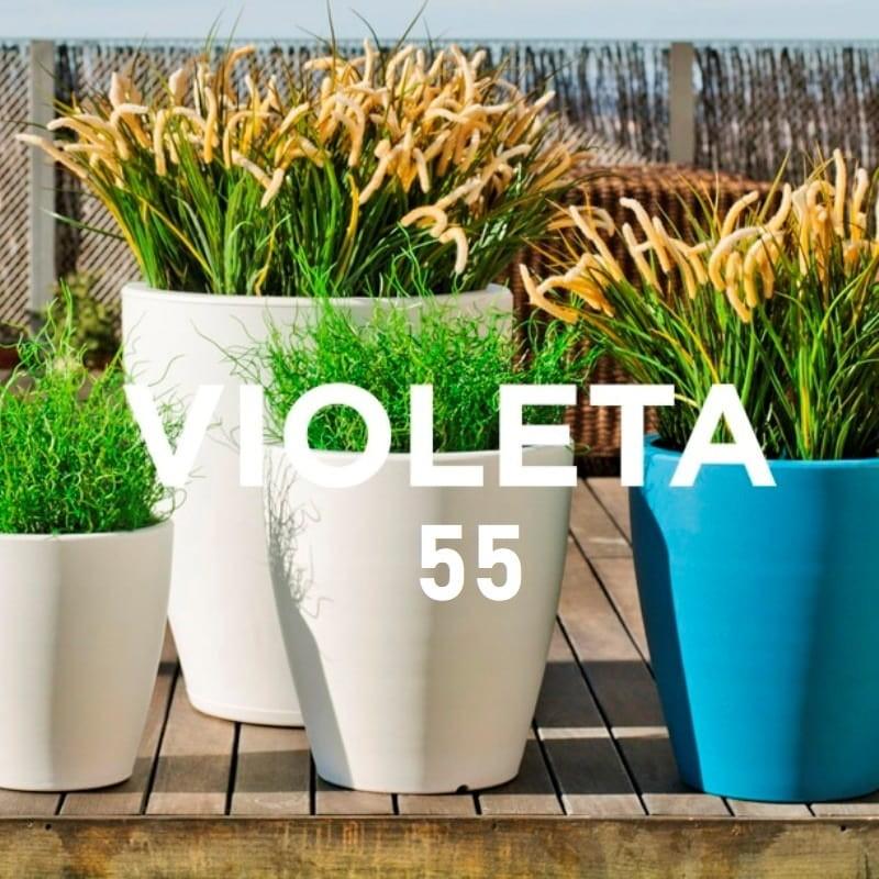 Pot de Fleurs Lumineux - VIOLETA 55 - Newgarden