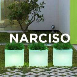Pot de fleur carré lumineux - NARCISO 40 - Newgarden