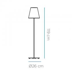 Lampe sur pied - LOLA SLIM - Newgarden