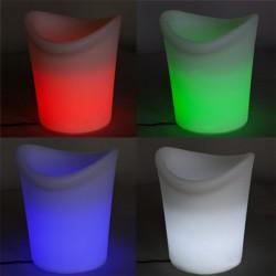 Seau à glace lumineux LED - KIBAL- lemobilierlumineux.com