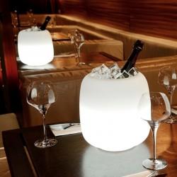 Seau à glace lumineux LED Mimmo - lemobilierlumineux.com