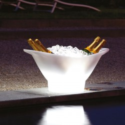 Seau à glace lumineux - Champagne - lemobilierlumineux.com