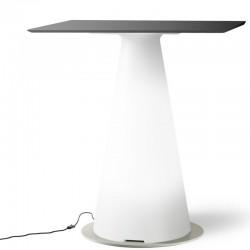 Table de bistrot lumineuse avec plateau carré de 70 cm - TIFFANY