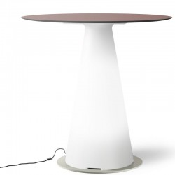 Table de bistrot lumineuse avec plateau rond Ø80 - TIFFANY