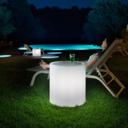 Table basse lumineuse ronde - HOME FITTING - LYXO