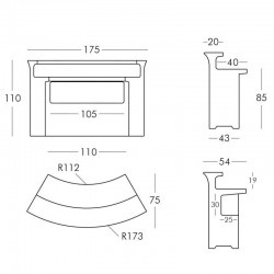 Bar lumineux LED - Break Bar - Slide - dimensions